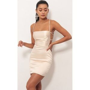 Lucy in the Sky Dresses - Satin Lace-Up Dress
